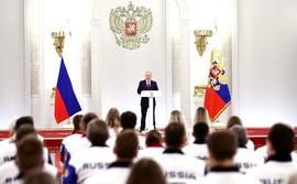 Владимир Путин встретился с российскими олимпийцами