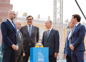 Состоялся торжественный запуск часов обратного отсчёта до старта Чемпионата мира по волейболу 2022 года в России