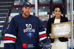 Василий Кошечкин и Сергей Мозякин передали Государственному музею спорта хоккейную экипировку