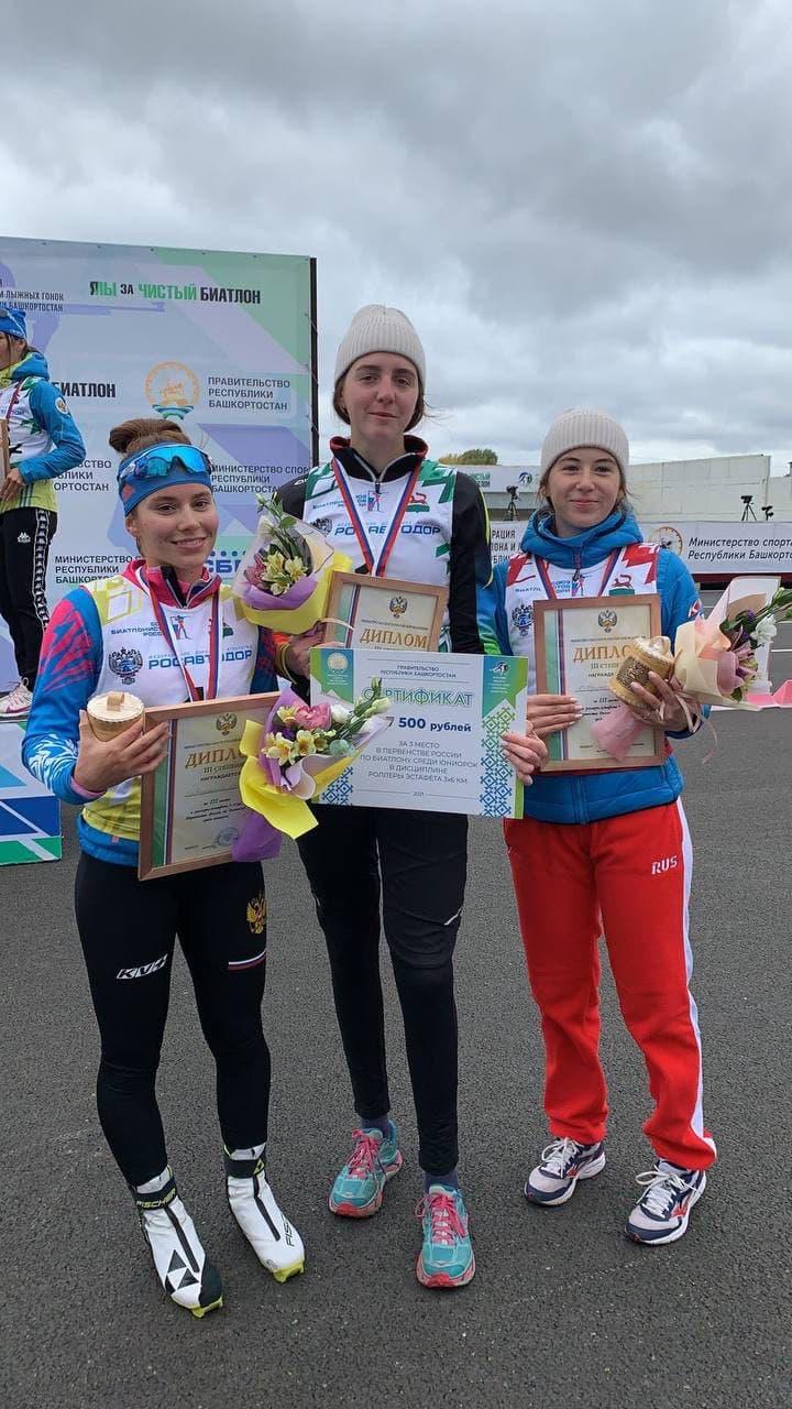 Биатлонистки из Подмосковья завоевали бронзовые медали на первенстве России