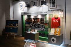 Государственный музей спорта представил выставку «Славные страницы отечественного футбола» в Астрахани
