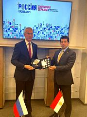 Олег Матыцин и Министр по делам молодёжи и спорта Египта Ашраф Субхи подписали российско-египетский План действий по реализации межведомственного Меморандума на 2021-2023 годы