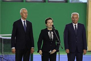 Олег Матыцин принял участие в открытии Теннисного центра и закладке памятного камня на месте строительства футбольного манежа в Ханты-Мансийском автономном округе – Югре
