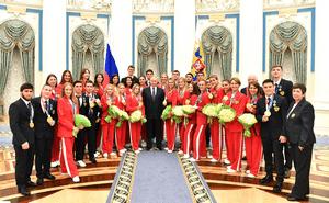 В Кремле чествовали российских олимпийцев