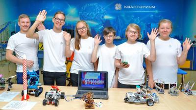 Воспитанники детского технопарка «Кванториум» Технологического университета в Королеве