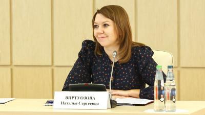 Наталья Виртуозова поздравила Торкунова с переизбранием на должность председателя Общественной палаты Подмосковья