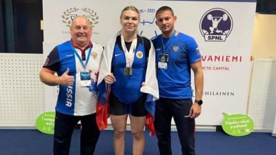 Подмосковная спортсменка трижды стала призером юниорского первенства Европы по тяжелой атлетике