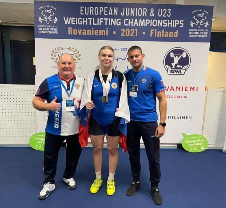 Подмосковная спортсменка трижды стала призёром юниорского первенства Европы по тяжелой атлетике