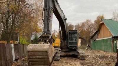 Самовольно построенный хостел снесли в городском округе Пушкинский