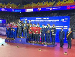 Сборная России впервые выиграла серебряные медали командного Чемпионата Европы по настольному теннису