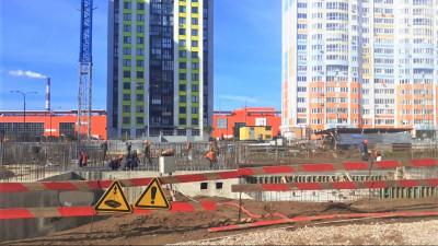 Строители приступили к возведению надземной части здания детского сада в Мытищах