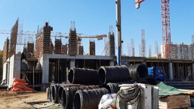 Строители приступили к возведению второго этажа новой школы в Балашихе